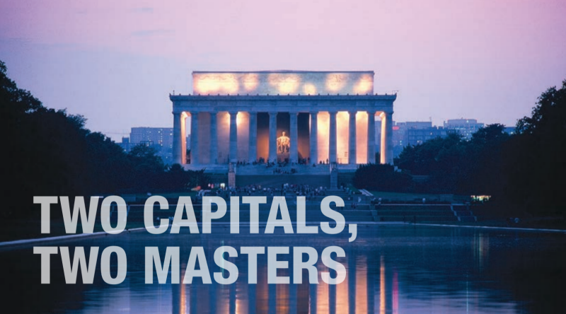Two Capitals, Two Masters Banner