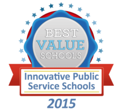 CPAP is 15th in the 2015 Best Value Schools ranking of the 50 most innovative public service schools