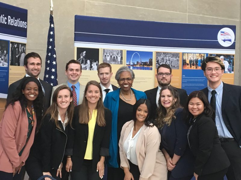 A group of GIA students visiting the State Department